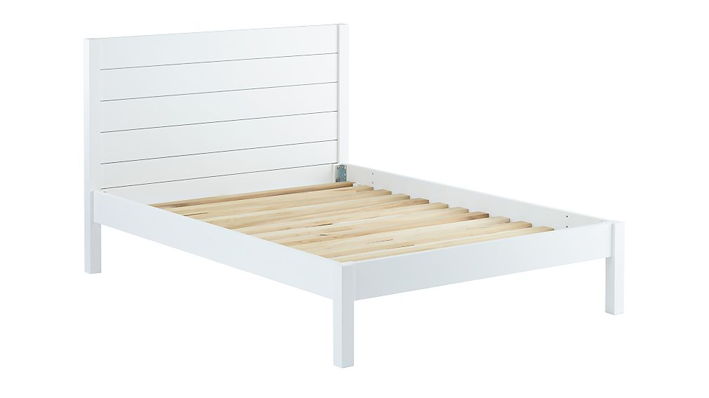 Uptown White Bed | Crate and Barrel