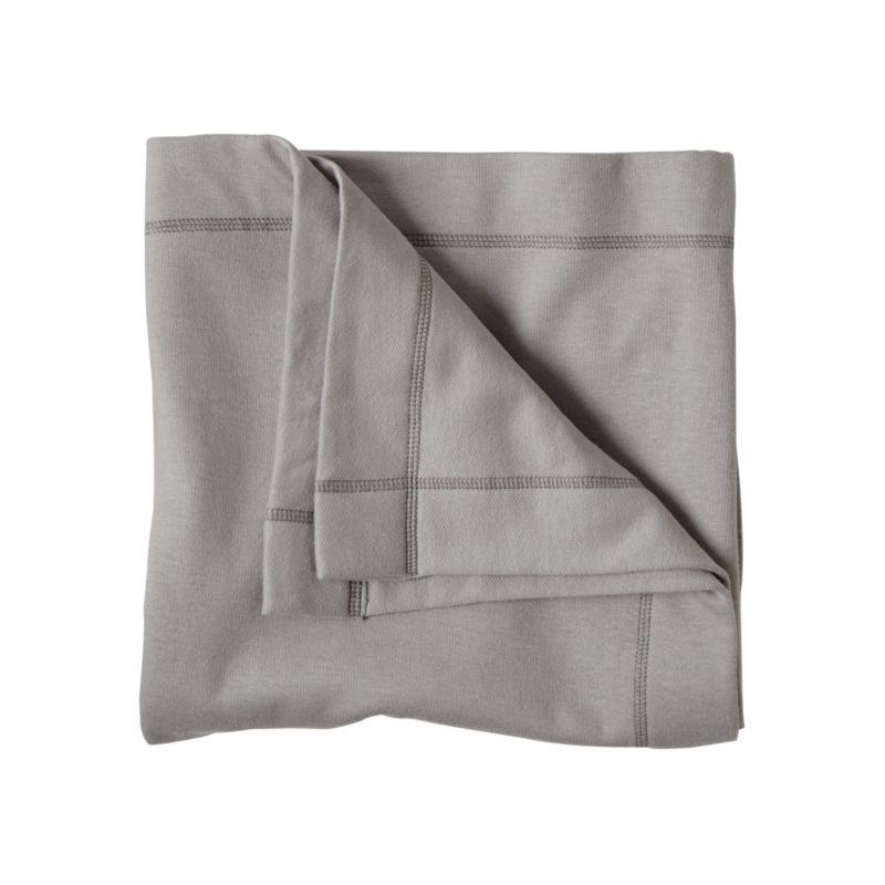 Kids Grey Sweatshirt Blanket Reviews Crate And Barrel