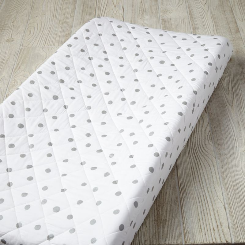 Silver Polka Dot Changing Pad Cover Reviews Crate And