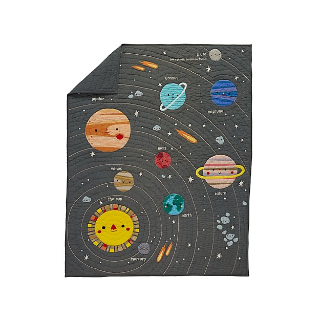 Outer space baby quilt reviews crate and barrel for Outer space quilt