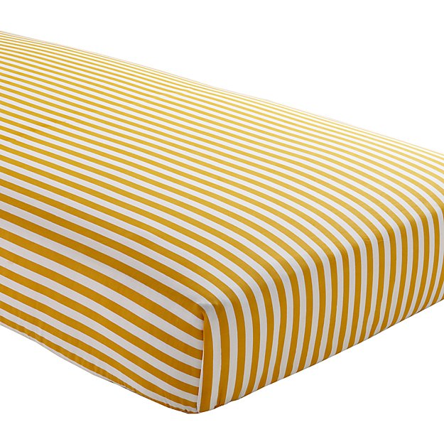 Organic Not A Peep Yellow Stripe Crib Fitted Sheet Reviews