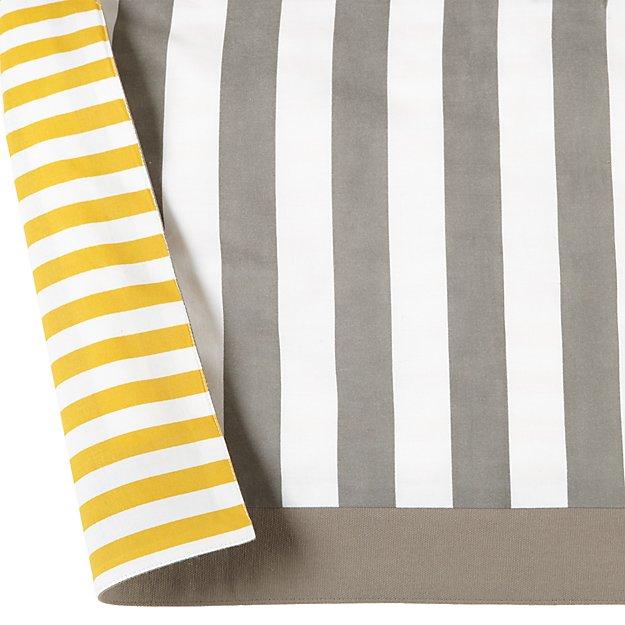 Organic Not A Peep Yellow And Grey Reversible Crib Skirt Reviews