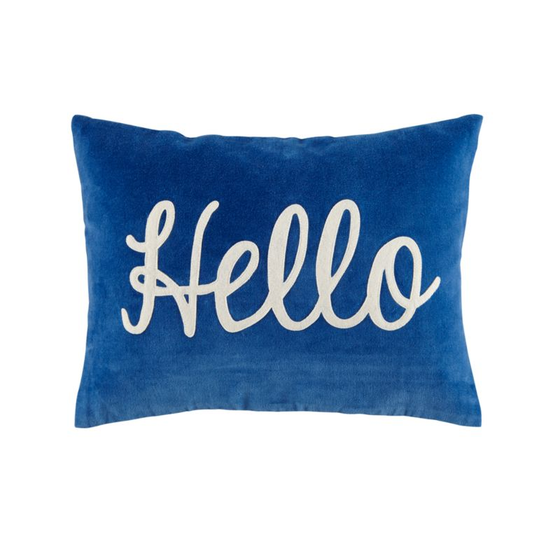 Throw Pillow Covers Crate And Barrel : Hello Throw Pillow Cover Crate and Barrel