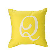 Initial and Letter Pillows   Crate and Barrel