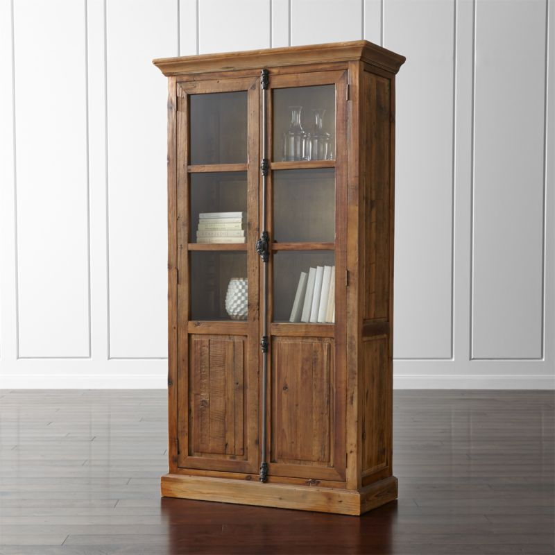 Bedford Tall Cabinet Dining Room Storage  Crate and Barrel