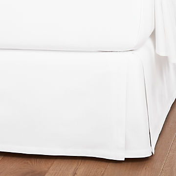 Cotton Bed Skirts Crate And Barrel