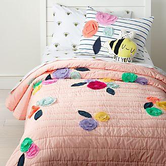 Girls Bedding Sheets Duvets Pillows Crate And Barrel
