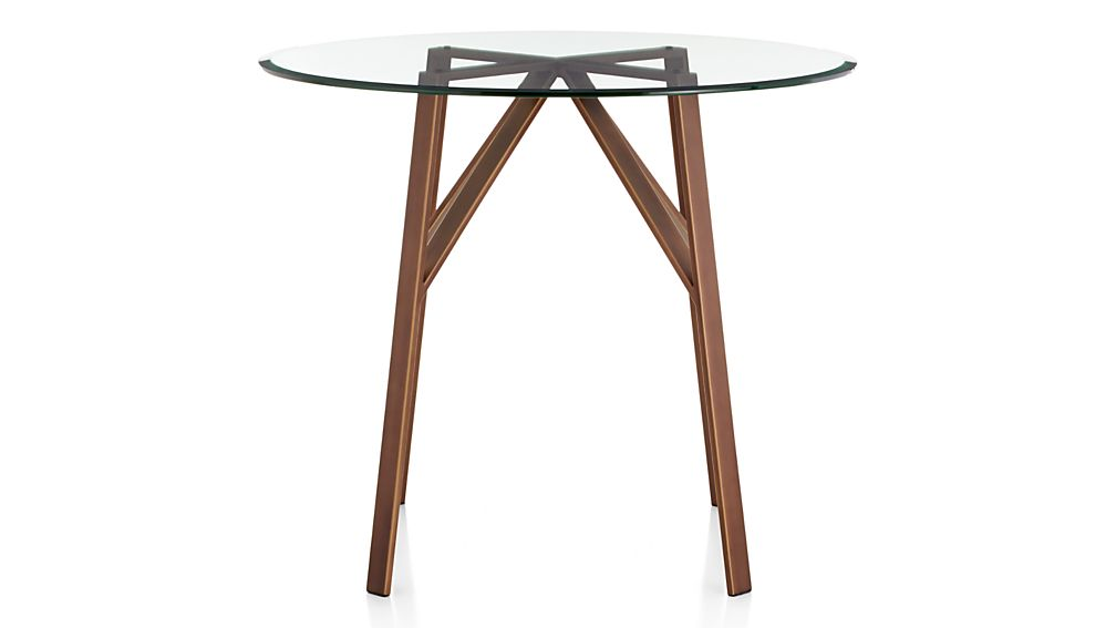"""Belden Round High Dining Table with 42"""" Glass Top"""