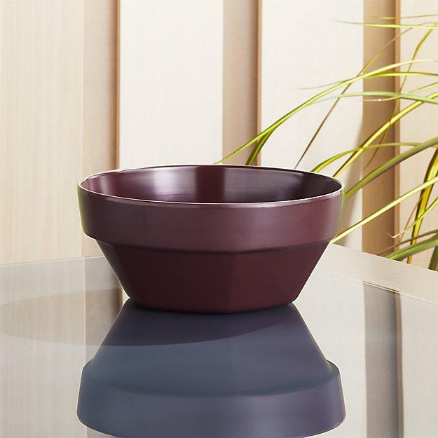 Beldon Wine Melamine Bowl - Image 1 of 5