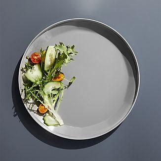 Beldon Grey Melamine Dinner Plate