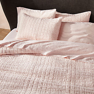 Blush Belgian Flax Quilts and Pillow Shams