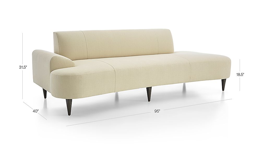 Image with dimension for Bella Daybed