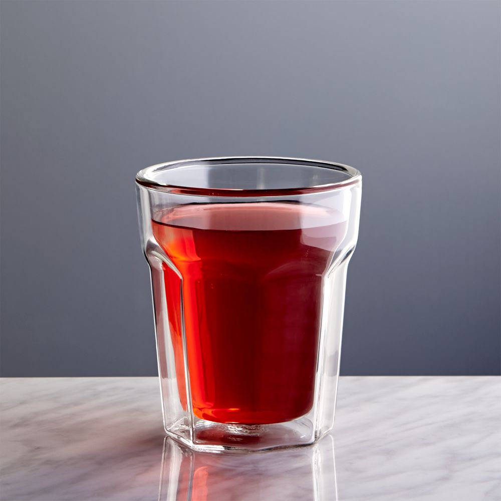 Belle Double Wall Glass 8oz - Crate and Barrel
