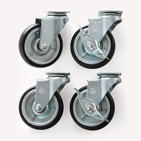 Set Of 4 Casters For Belmont Kitchen Island Reviews Crate And