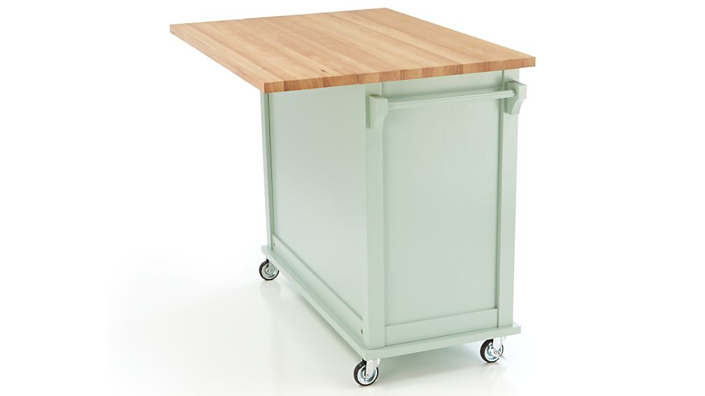 belmont mint kitchen island belmont mint kitchen island crate and barrel 4415