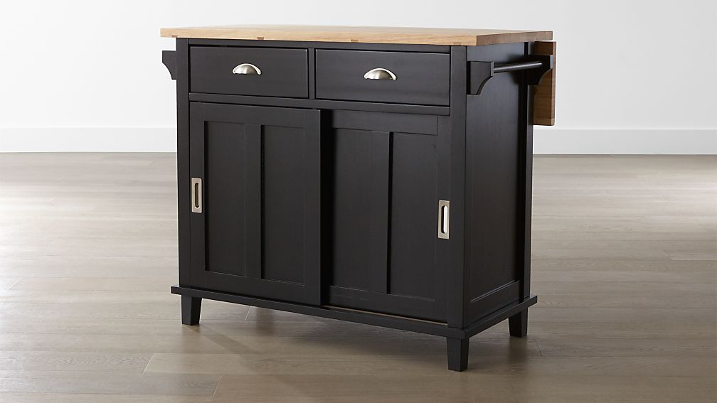 Captivating Belmont Black Kitchen Island ...