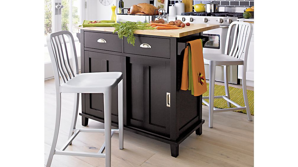 Belmont Black Kitchen Island