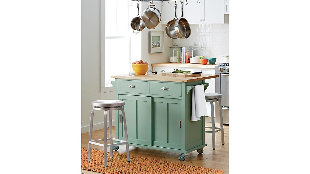 Spin Swivel Backless Bar Stools And Cushion Crate And Barrel - Crate and barrel kitchen island