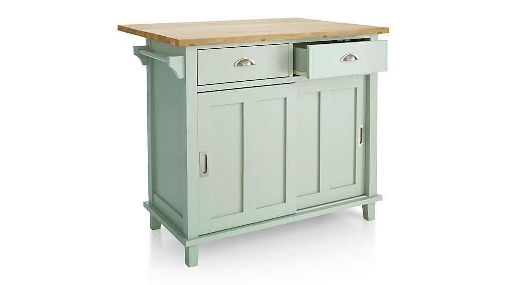 kitchen island crate and barrel belmont mint kitchen island crate and barrel 8163