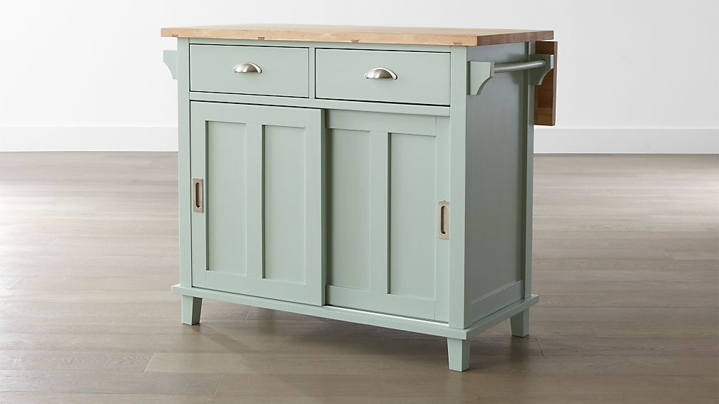 Pictures Of Kitchen Islands belmont mint kitchen island | crate and barrel