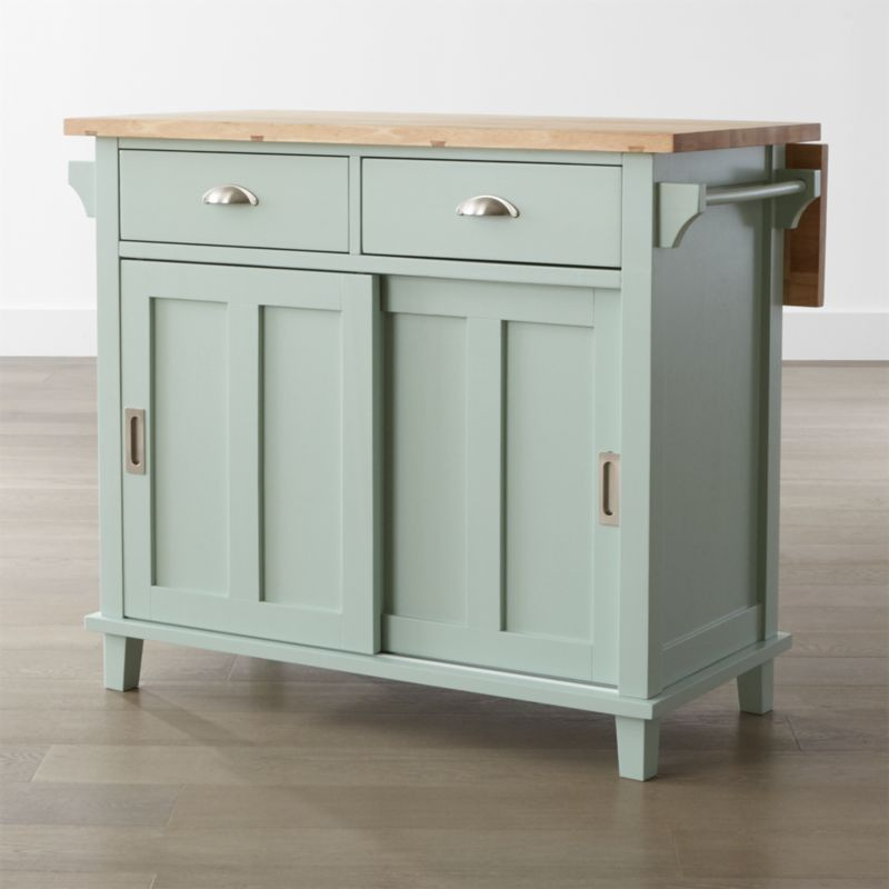Superior Belmont Mint Kitchen Island In Kitchen Islands U0026 Carts + Reviews | Crate  And Barrel Photo Gallery