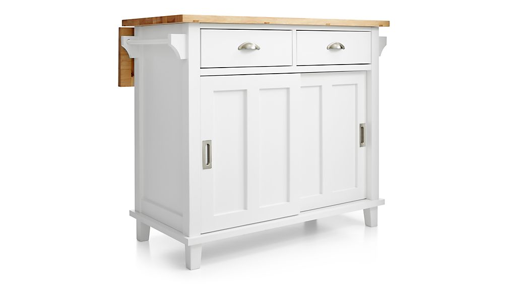 belmont white kitchen island crate and barrel