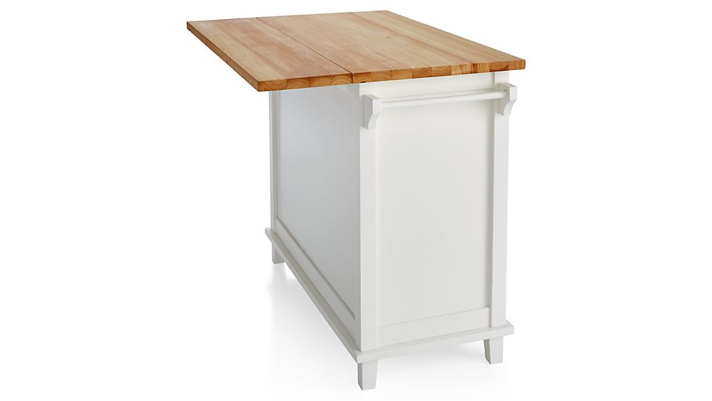 Belmont White Kitchen Island | Crate and Barrel