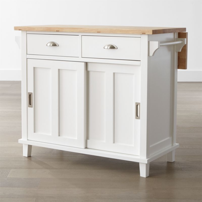 Belmont White Kitchen Island Reviews Crate And Barrel - Cheap kitchen islands for sale