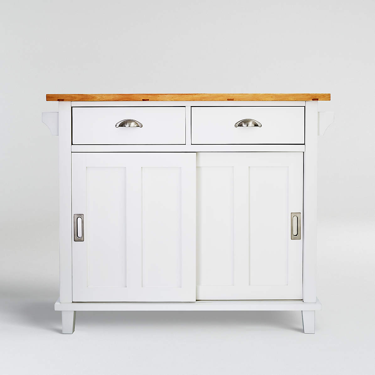 Belmont White Kitchen Island Reviews Crate And Barrel Canada
