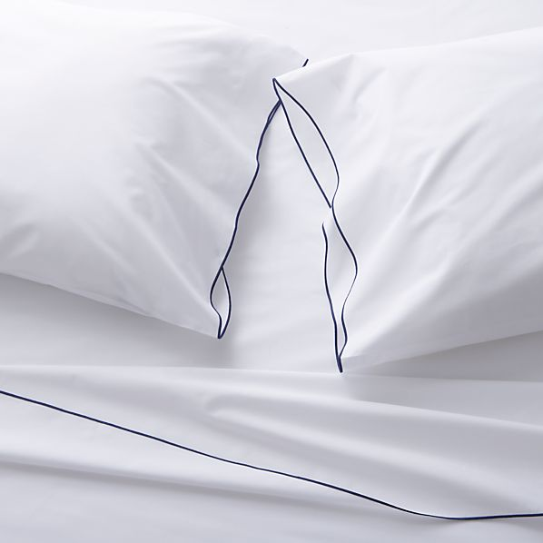 Belo Blue Full Sheet Set