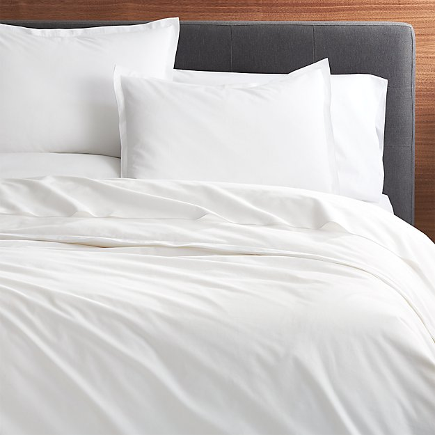 Belo White Full Queen Duvet Cover Crate And Barrel