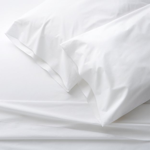 Belo White California King Sheet Set