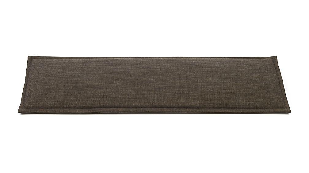 Dark Granite Grey Bench Cushion Reviews Crate And Barrel