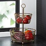 Bendt Gold 2-Tier Wire Fruit Basket