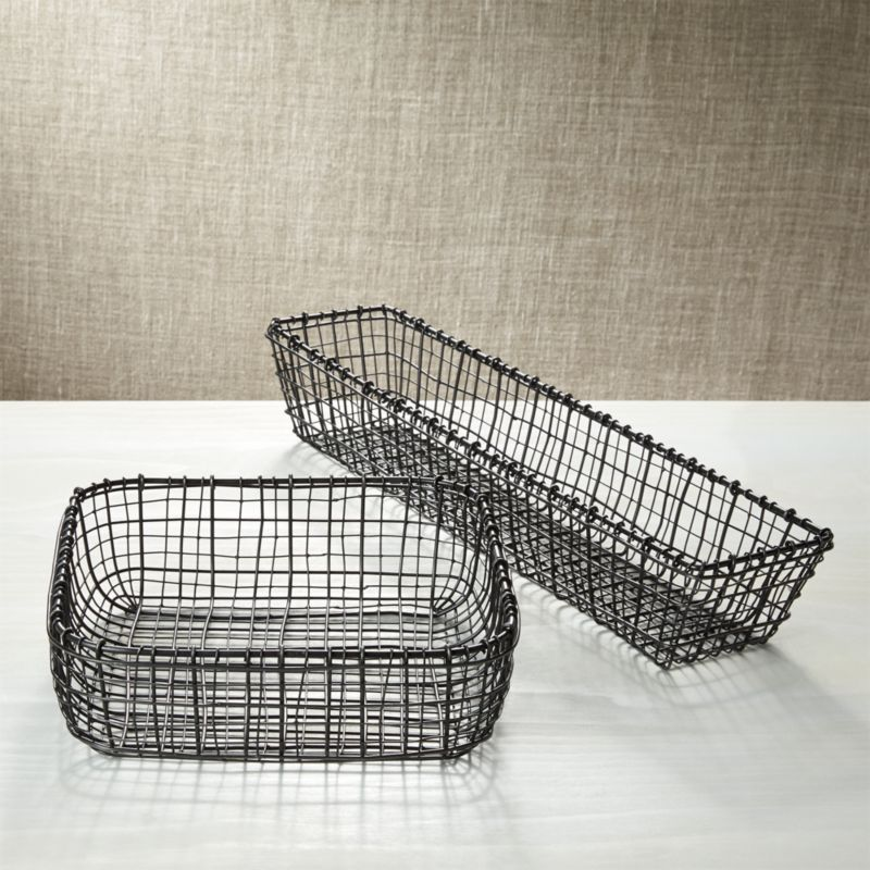 Metal Bread Baskets Crate And Barrel