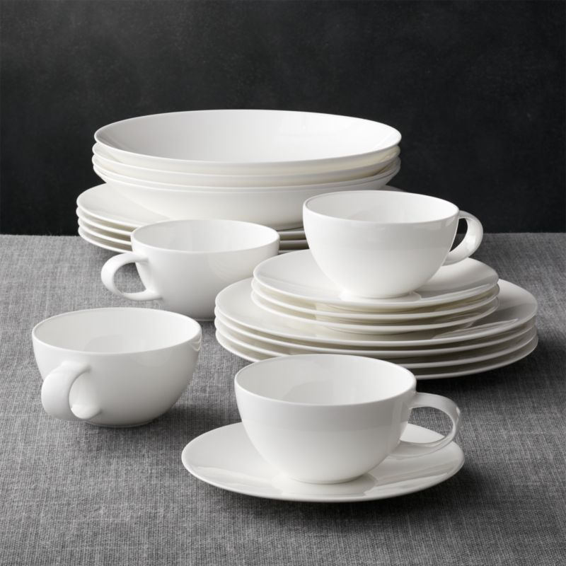 & Bennett 20-Piece Dinnerware Set + Reviews | Crate and Barrel