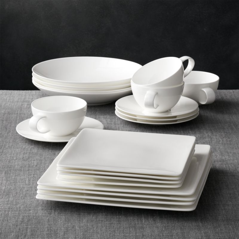 & Bennett Square 20-Piece Dinnerware Set + Reviews | Crate and Barrel