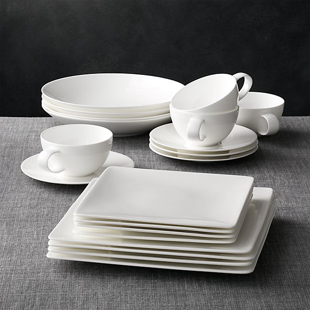 Bennett Square 20 Piece Dinnerware Set Crate And Barrel