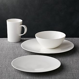 Bennett Round Dinnerware & Commercial Dinnerware u0026 Glassware | Crate and Barrel