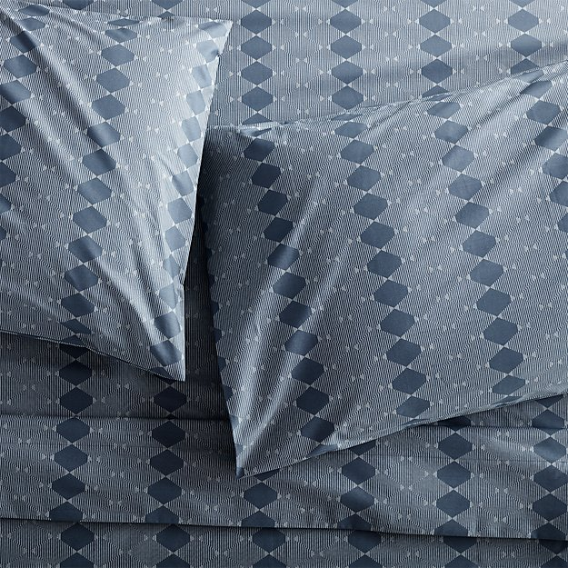 Bennett Blue Full Sheet Set