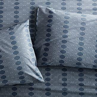 Set of 2 Bennett Blue Standard Pillow Case