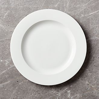 Bennett Rimmed Dinner Plate & Dinner Plates: Square Oval Rectangular u0026 Round | Crate and Barrel