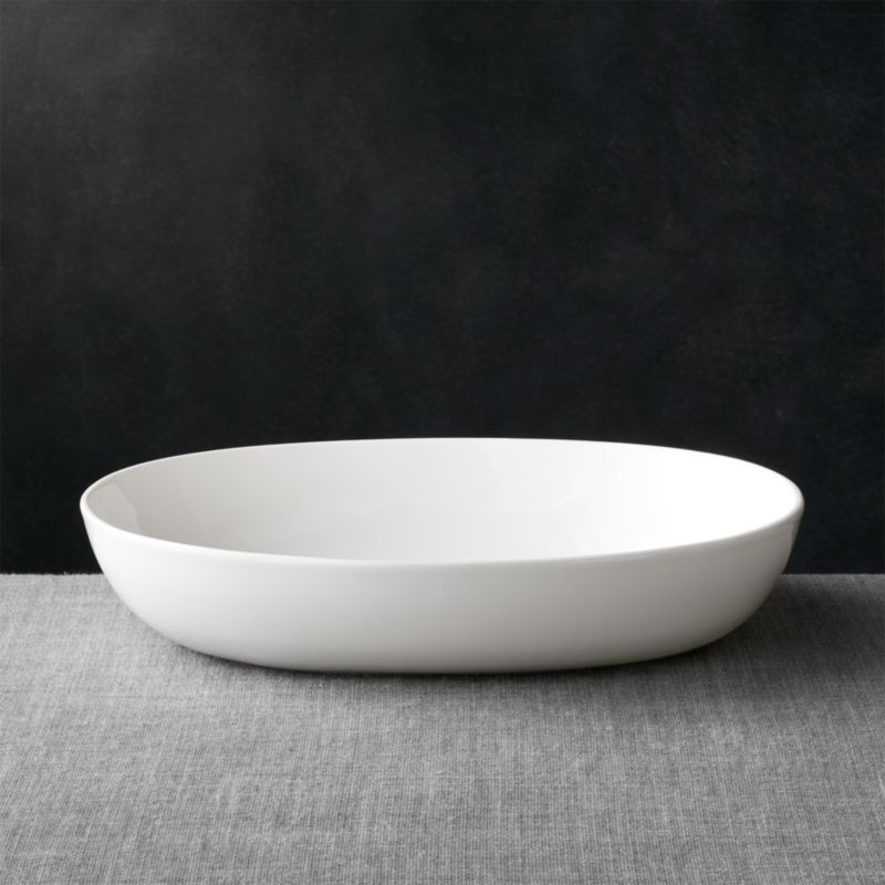 Bennett Oval Large Serving Bowl Reviews Crate And Barrel
