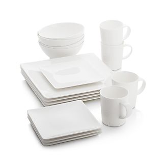 White Dinnerware Crate and Barrel