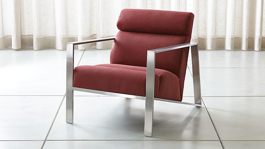 Bennetti Leather Metal Frame Chair - Image 1 of 7
