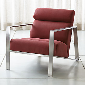 Bennetti Leather Metal Frame Chair