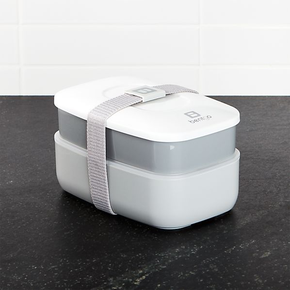 Two-Tone Grey Bento Box