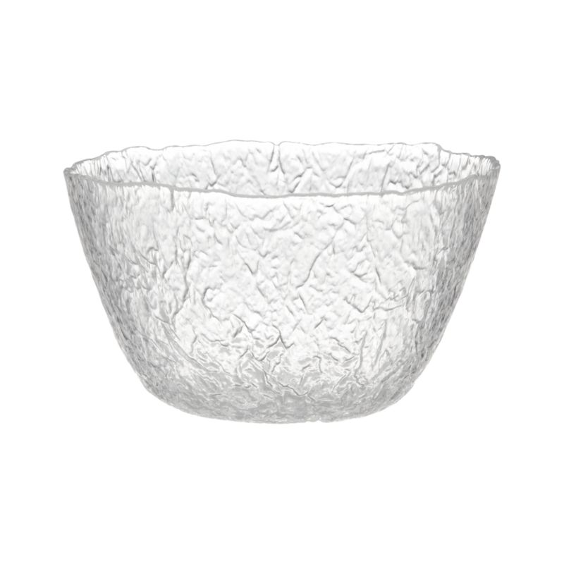 Organic shape and texture reminiscent of ice sculpture makes this Italian-crafted piece a cool serving alternative.<br /><br /><NEWTAG/><ul><li>Glass</li><li>Dishwasher-safe</li></ul>