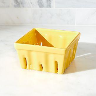 Berry Box Yellow Colander