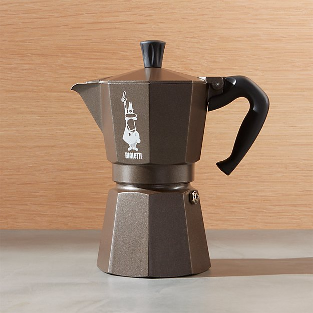 bialetti moka 6 cup espresso maker crate and barrel. Black Bedroom Furniture Sets. Home Design Ideas